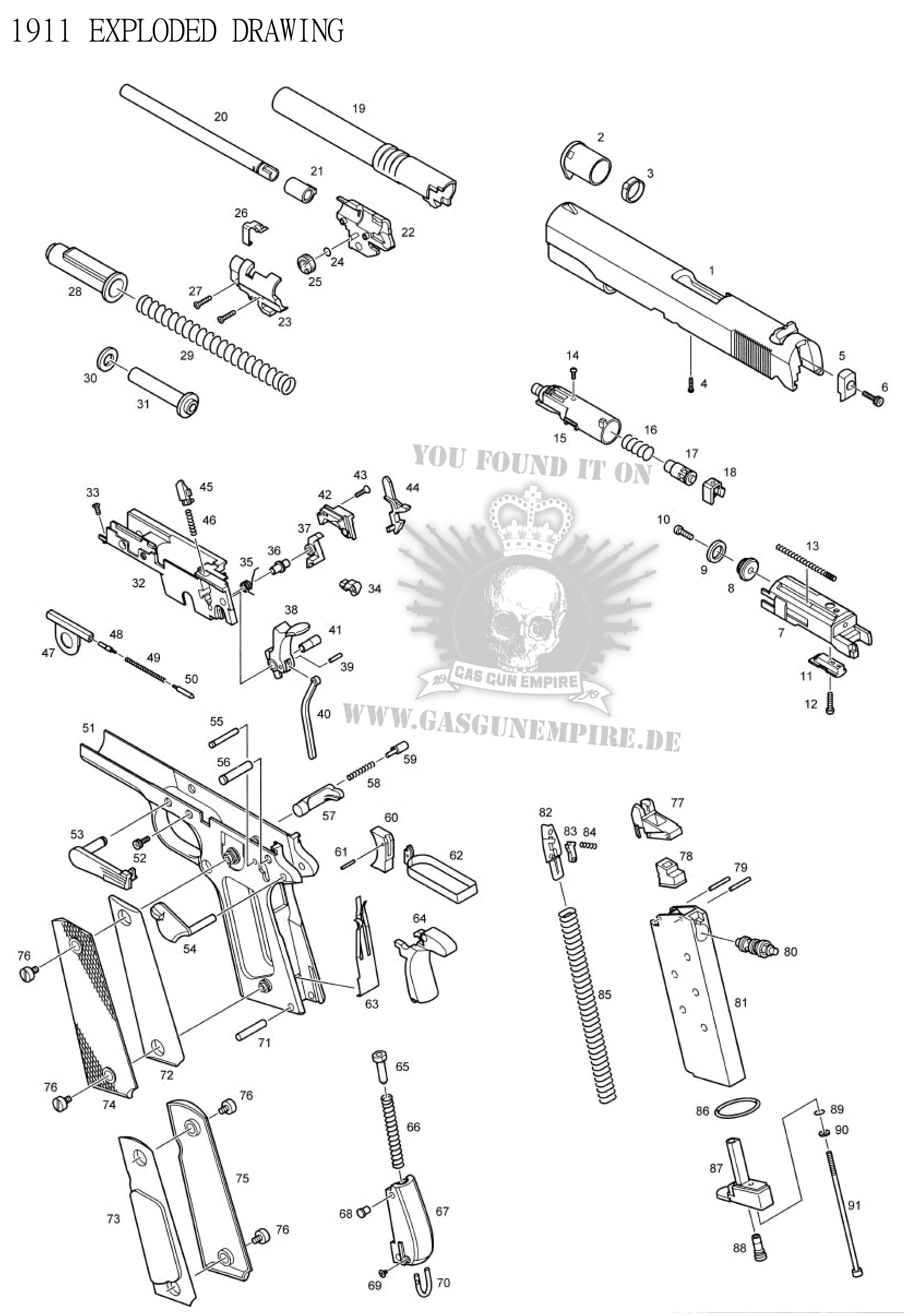 parts diagram exploded view smith wesson forum
