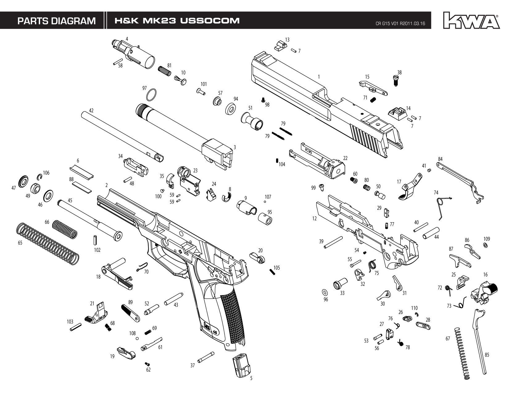 Explosionszeichnungen    Explosion Drawing - How-tos - Gas Gun Empire