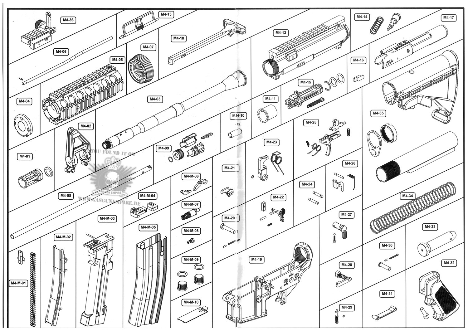 M4 Airsoft Rifle Wiring Diagram Trusted Diagrams Schematic Carbine Tactical Ghk Product
