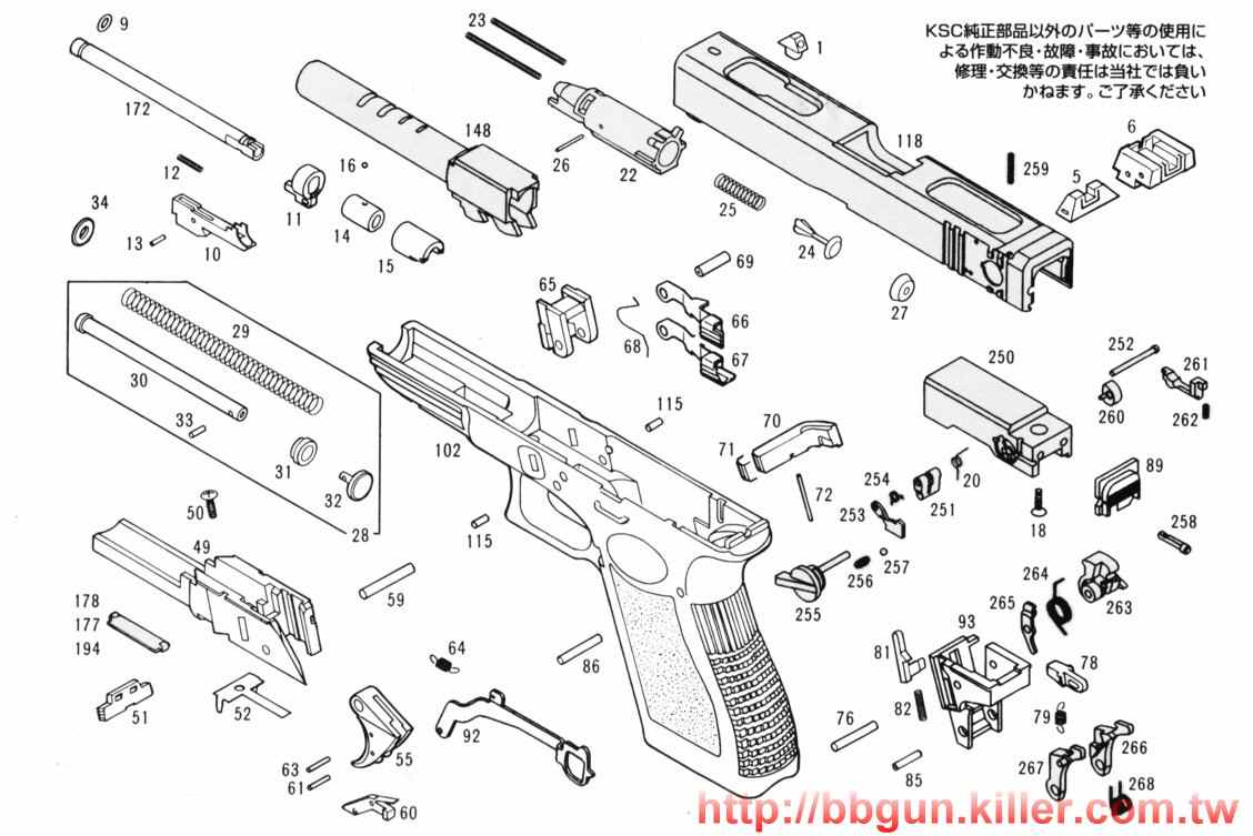 Airsoft Gun Diagram Parts Data Wiring Diagrams 1911 Safety Also With Exploded Browning Hi Power Colt Replacement Instruction Manuals