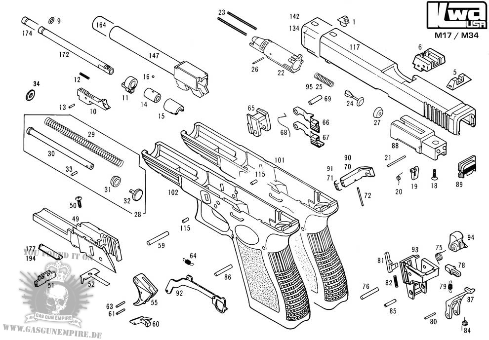 m1911 exploded diagram