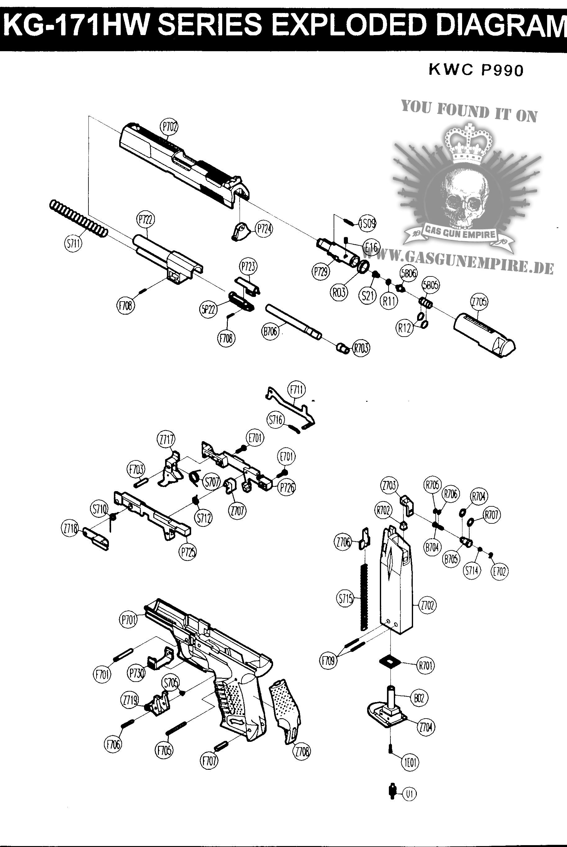 aps acp co2 airsoft gun disassembly diagram sketch