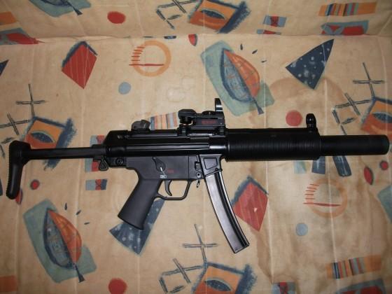 VFC MP5SD3 GBB mit einem RED DRAGON RD-26DC Tactical Reddot