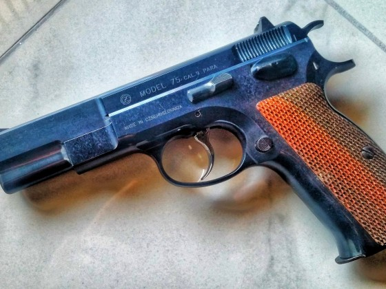 CZ75 with Prime metal kit in Prime blue finish