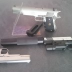 WE 1911, Cybergun Colt 1911 Rail Gun, Inokatsu Series 70's Version Colt 1911 Stainless Steel